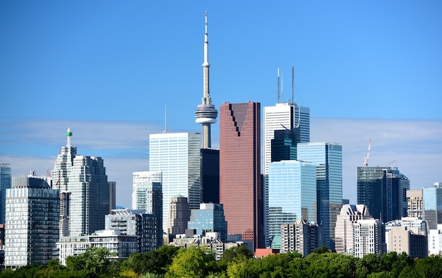 Moderne toronto-gebäude, ontario, kanada Premium Fotos