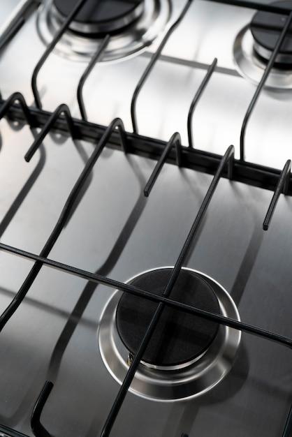 Moderner gasherd zum kochen in der küche. Premium Fotos