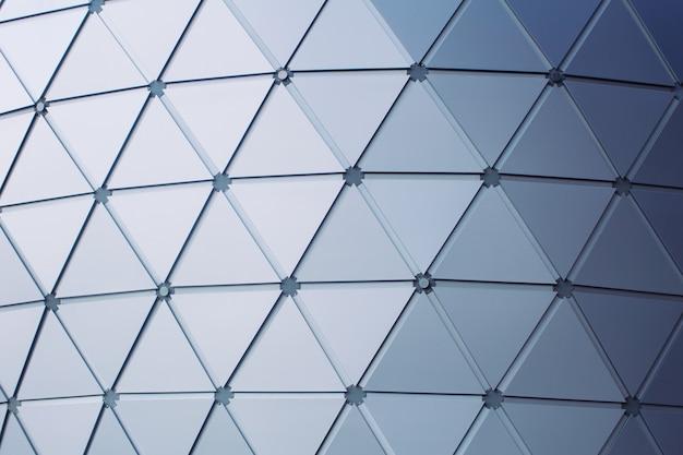 Moderner gebäudedreieckgeometrieart-dacharchitekturhintergrund Premium Fotos