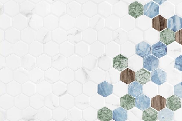 Moderner hexagon deckte hintergrund mit ziegeln Kostenlose Fotos
