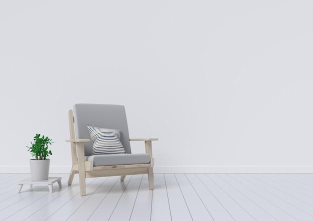 Moderner innenraum mit schönen möbeln und zierpflanzen. 3d-darstellung Premium Fotos