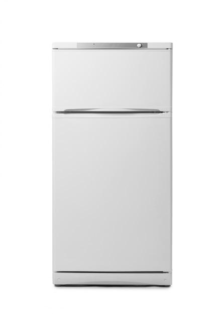 Moderner kühlraum getrennt auf weiß Premium Fotos