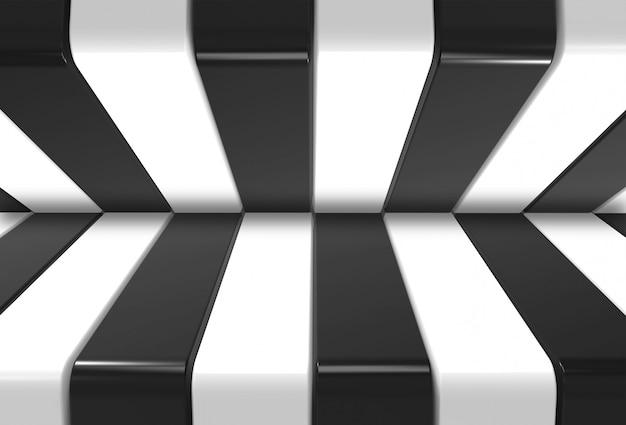 Moderner schwarzweiss-musterhintergrund Premium Fotos