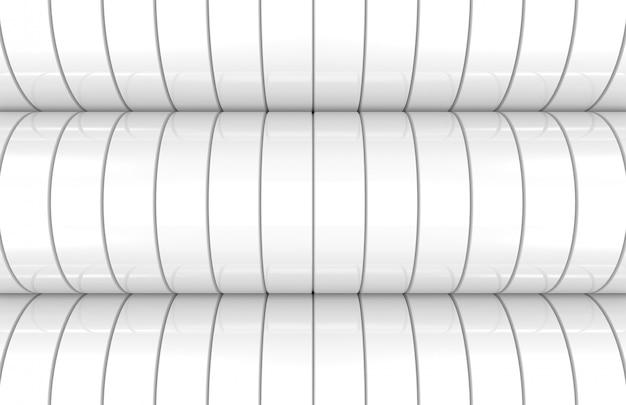 Moderner weißer zylinderkurven-wandhintergrund Premium Fotos