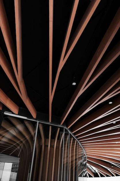 Modernes architektonisches strukturdesign des niedrigen winkels Kostenlose Fotos