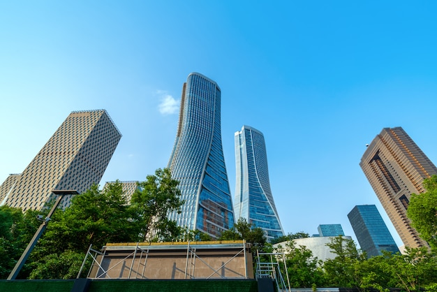 Modernes gebäude in hangzhou Premium Fotos