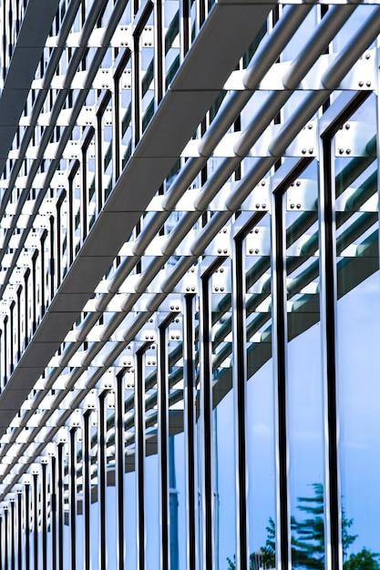 Modernes glasgebäude der seitenansicht Kostenlose Fotos