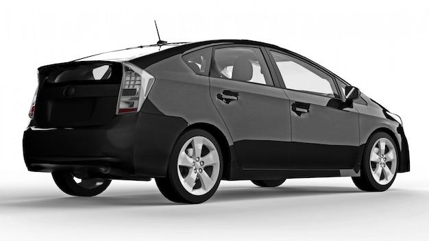 Modernes hybrides schwarzes familienauto Premium Fotos