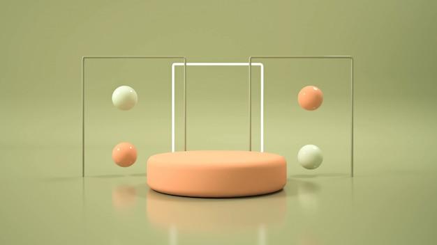 Modernes, minimalistisches mockup-podium Premium Fotos
