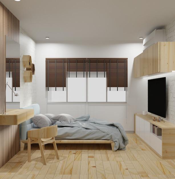 Modernes schlafzimmer interieur Premium Fotos