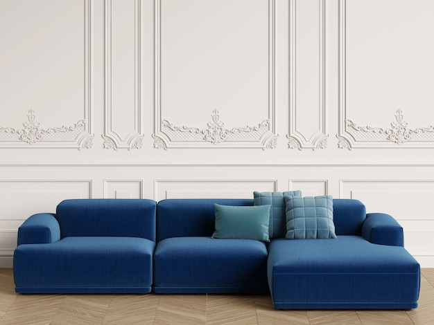 Modernes skandinavisches design sofa im klassischen interieur Premium Fotos