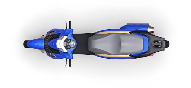 Modernes städtisches blaues moped Premium Fotos