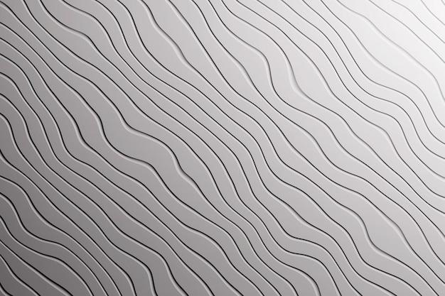 Modische graue hintergrundbeschaffenheit mit diagonalen wellenlinien kurven Premium Fotos