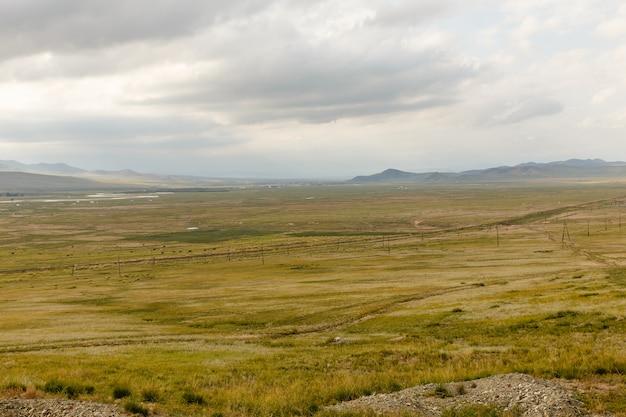 Mongolische landschaft von orkhon-tal Premium Fotos