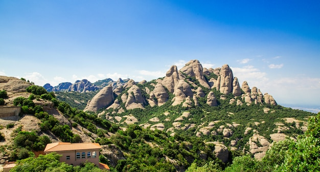 Montserrat-berg, katalonien, barcelona Premium Fotos