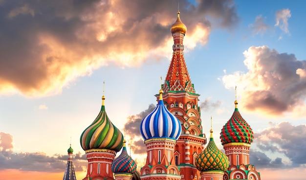 Moskau. basilius-kathedrale Premium Fotos