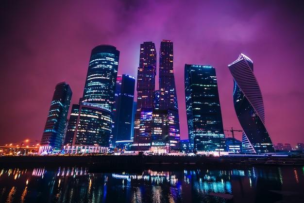 Moskauer internationales geschäftszentrum. russland Premium Fotos