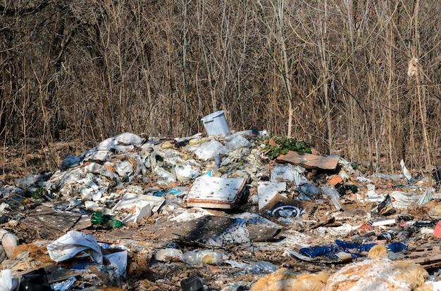 Müllverschmutzung der umwelt. Premium Fotos