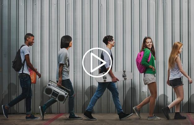Multimedia entertainment play-tastenoberfläche Kostenlose Fotos