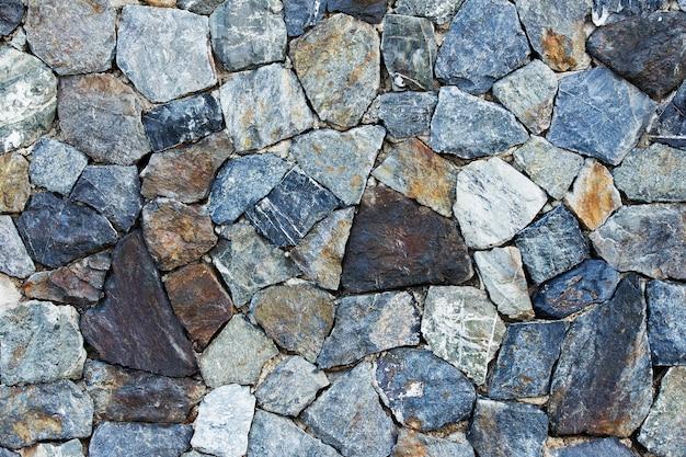 Muster der alten steinmauer aufgetaucht Premium Fotos
