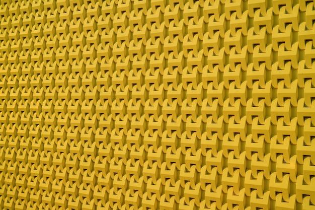 Muster der außenwand des modernen gebäudes im senfgelbfarbhintergrund Premium Fotos
