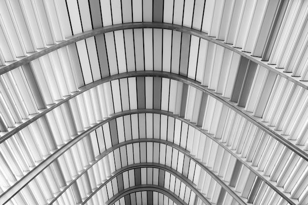 Muster des dachs, grauer farbton. architektur, abstrakter hintergrund. Premium Fotos