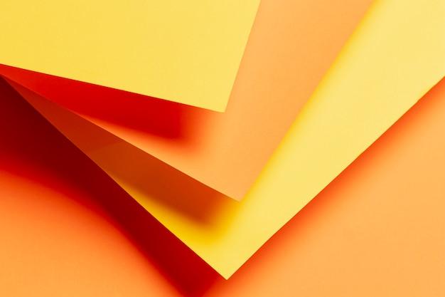 Muster mit schatten der orange nahaufnahme Kostenlose Fotos