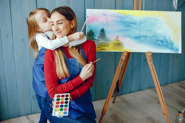 Mutter und tochter zeichnen Kostenlose Fotos
