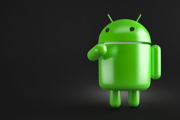 Nachdenklicher android-roboter. 3d-darstellung. enthält beschneidungspfad Premium Fotos