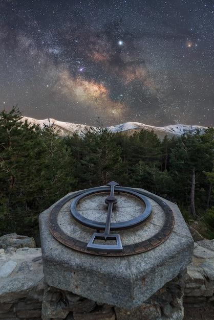 Nacht in den bergen Premium Fotos