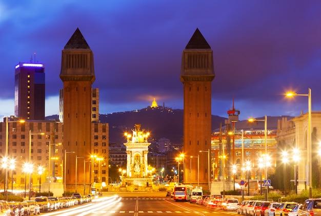Nachtansicht von barcelona Kostenlose Fotos
