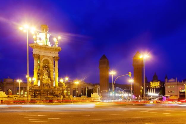 Nachtansicht von plaza de espana Kostenlose Fotos