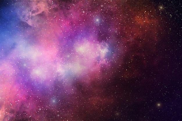 Nachthimmel mit sternen und nebelfleck Premium Fotos