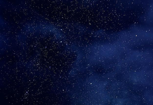Nachthimmel mit sternen und weichem milchstraße-universum Premium Fotos