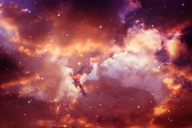 Nachthimmel mit sternen. Premium Fotos