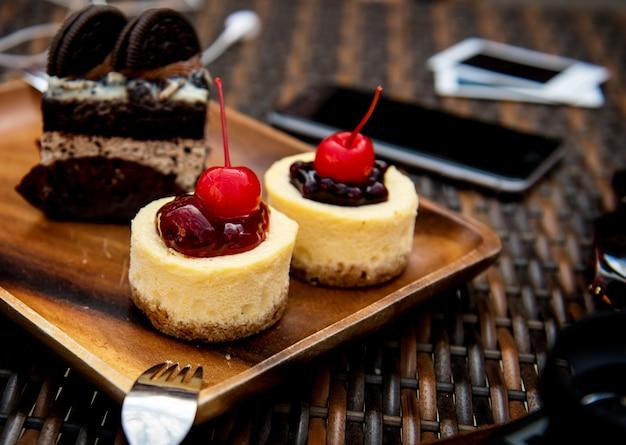 Nachtisch Susser Kuchen Geschmackvolle Backerei Weich Download Der