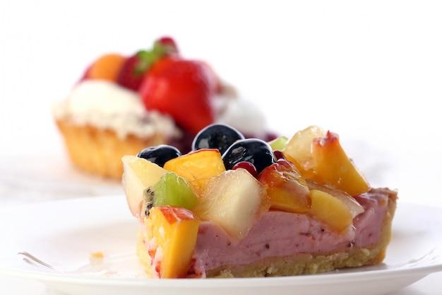 Nachtischfruchtkuchenkuchen mit blaubeere Kostenlose Fotos