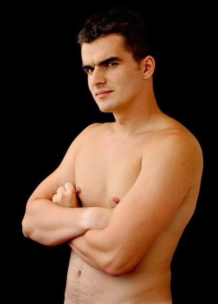 Nackter oberkörper junger mann | Premium-Foto