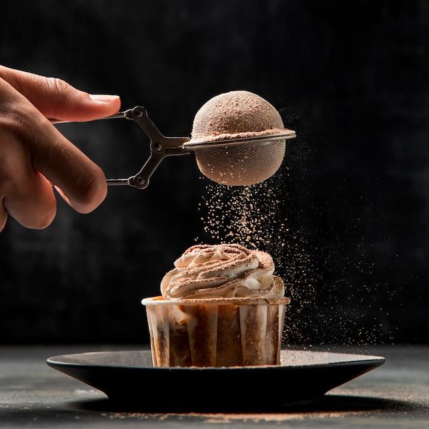 Nahaufnahme cupcake mit zimt Kostenlose Fotos