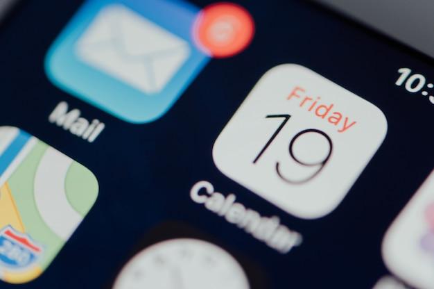 Nahaufnahme der kalender-app Kostenlose Fotos