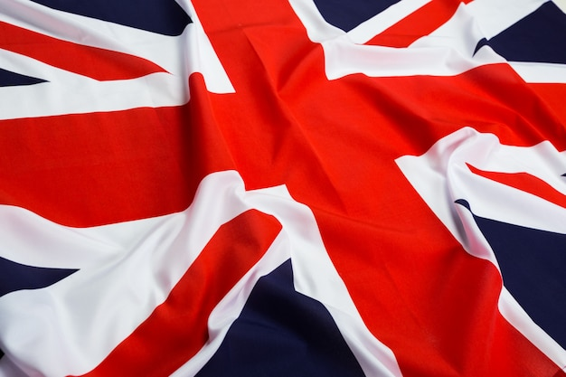 Nahaufnahme der union jack-flagge Premium Fotos