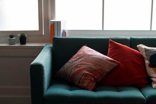 Nahaufnahme des bequemen sofas Kostenlose Fotos