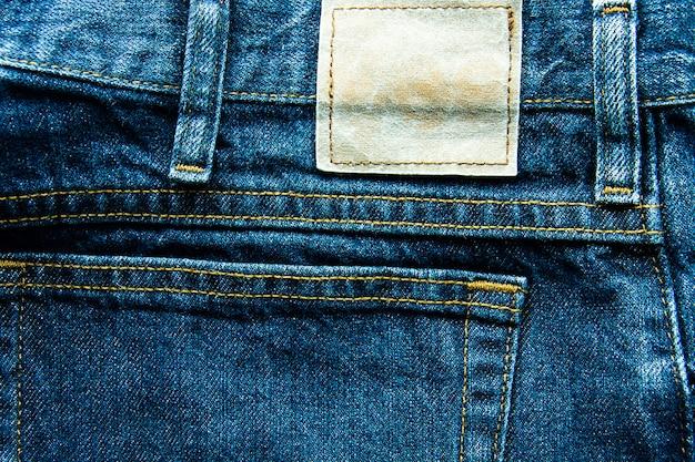 Nahaufnahme des jeansaufklebers beschaffenheits-hintergrund, los verschiedene blue jeans, beschaffenheit des klassikers Premium Fotos