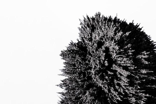 Nahaufnahme des magnetischen metallischen rasierens lokalisiert auf weißem hintergrund Kostenlose Fotos