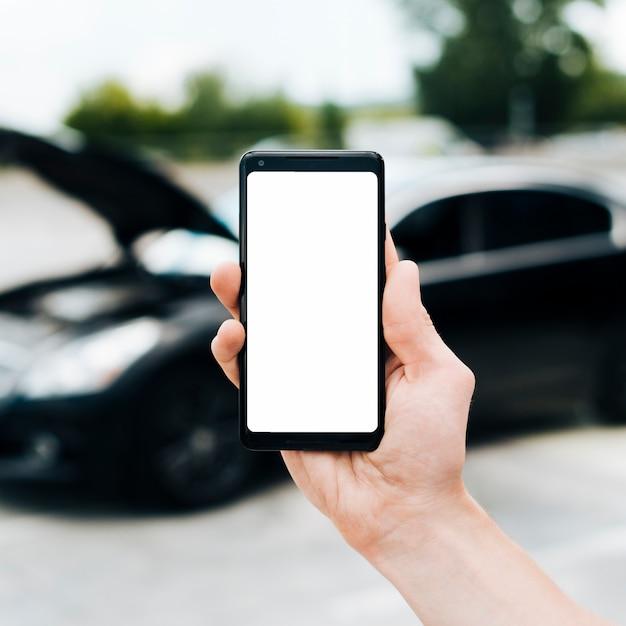 Nahaufnahme des telefonmodells Kostenlose Fotos