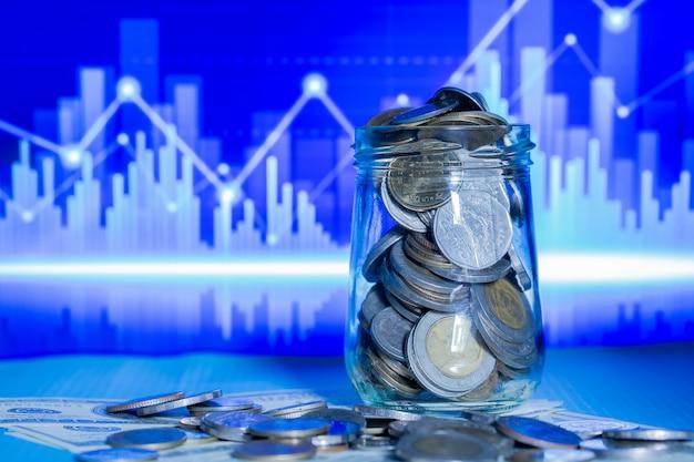 Nahaufnahme einer münzenflasche Kostenlose Fotos