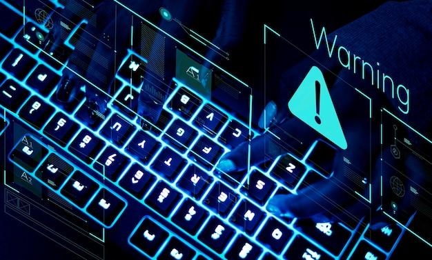 Nahaufnahme einer tastatur im uv-licht Premium Fotos