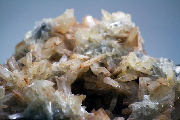 Nahaufnahme eines baryte-minerals. Premium Fotos
