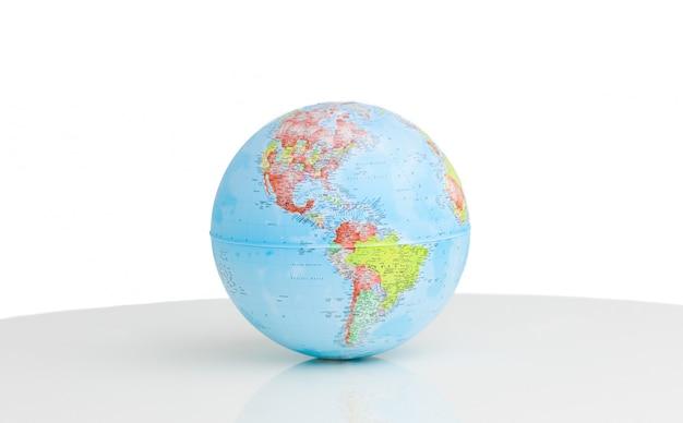 Nahaufnahme eines terrestrischen globus Premium Fotos