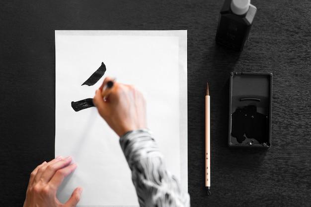 Nahaufnahme handmalerei Kostenlose Fotos